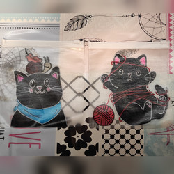 Porta mascarillas gatos
