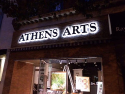athens_arts_sign_night