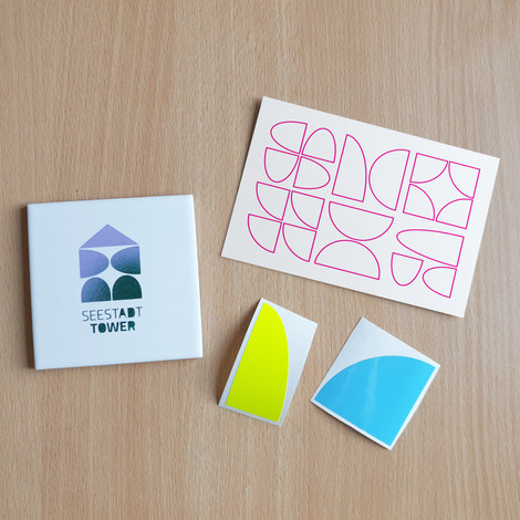 Keramik Untersetzer, Postcard & Stickers - 22€