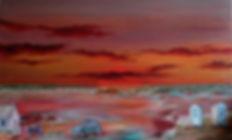 Marée basse en soirée 116x73