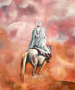 Cavalier dans le désert 65x54 (15F)