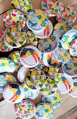 "Badges 32mm ""Tropical"" personnalisable"