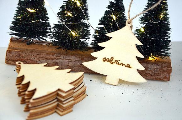 Décoration de Noël : Sapin (bois)