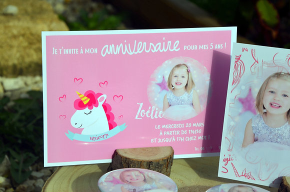 Invitation anniversaire (carte 10x15)