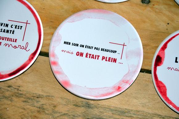 """Dessous de verre collection """"Tâches de vin"""" 88 mm"""