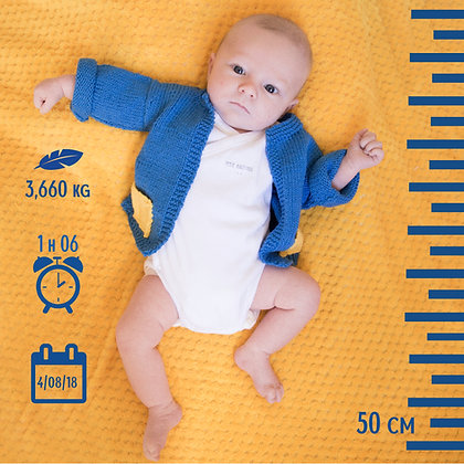 Faire Part de naissance (15x15 cm)