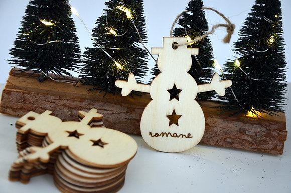 Décoration de Noël : Bonhomme (bois)