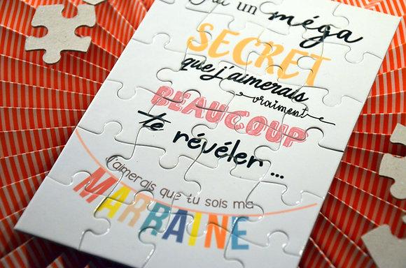"""Puzzles """"Marraine/Parrain"""""""