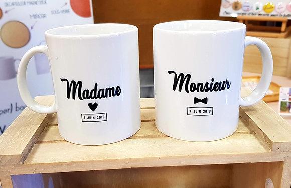 """MUGS Duo """"Mariés"""""""