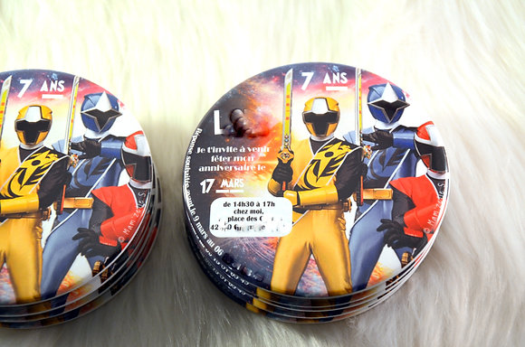 Invitations d'anniversaire Power Rangers
