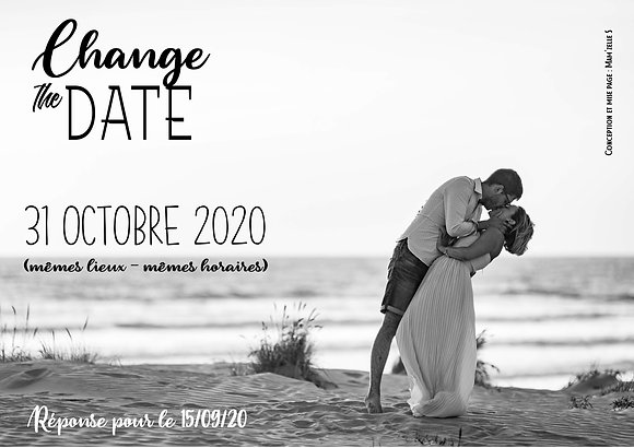 Change the date (ou Save the date)