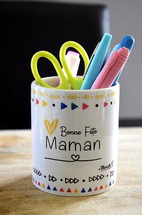 """Pot à crayons """"Bonne fête Maman"""""""