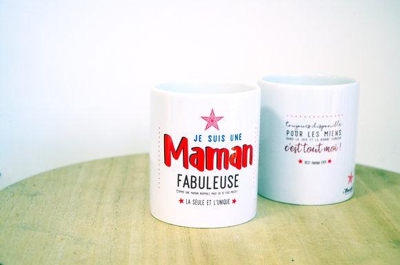 """Pot à crayons """"Maman fabuleuse"""""""