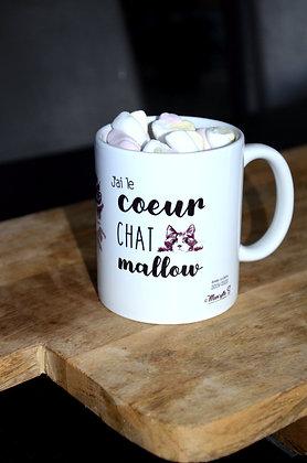 """MUG """"cœur chat mallow"""""""