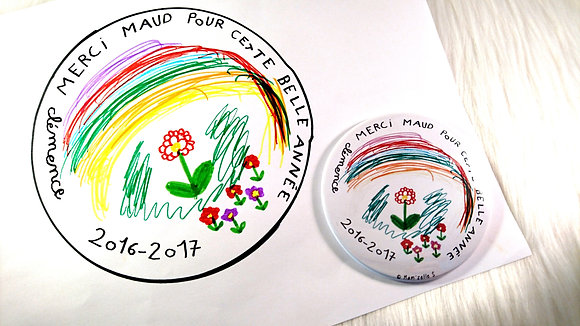 Badge - Nounou dessin