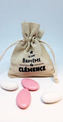 """Lot de 8 Pochons Dragées """"Baptême"""""""