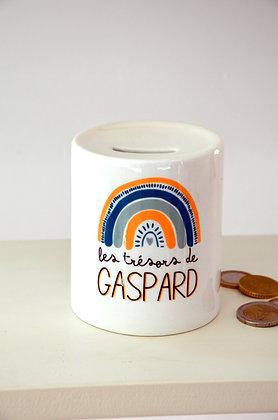 """Tirelire """"Gaspard"""" à personnaliser"""