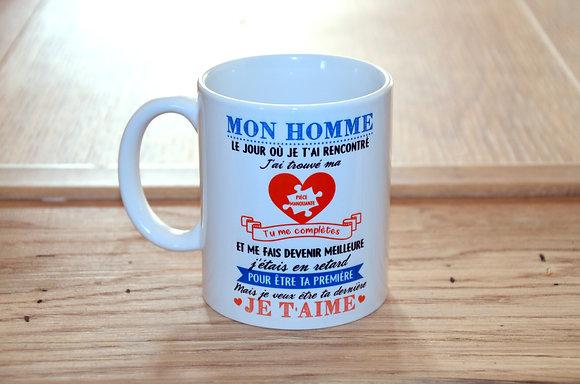 "MUG ""Mon homme"""