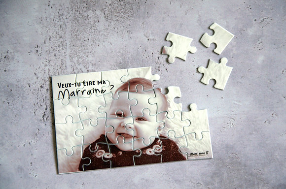 "Puzzles ""Marraine/Parrain Photo"""