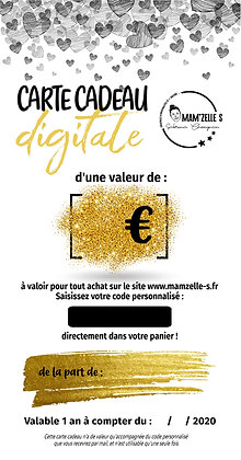 Carte cadeau digitale