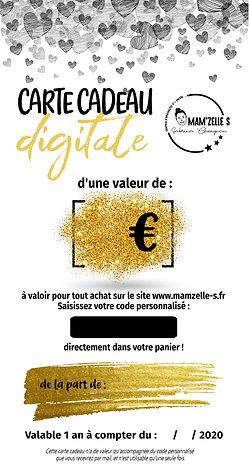 Carte cadeau digitale