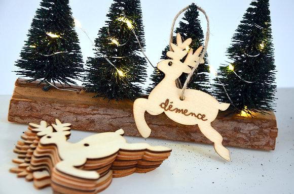 Décoration de Noël : Cerf (bois)