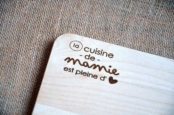 """Planche à découper (bois) pour """"mamie"""""""