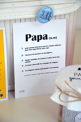"""Carte """"Définition"""" papa"""