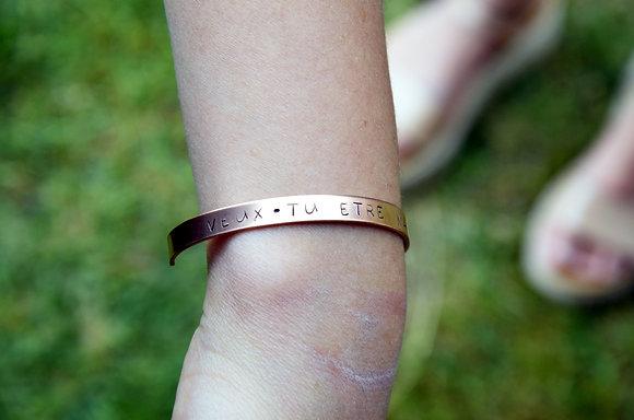 """Bracelet """"Veux-tu être ma marraine"""""""
