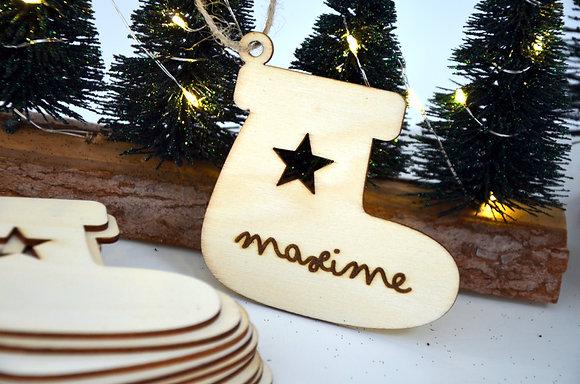 Décoration de Noël : Botte (bois)