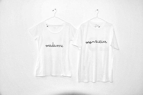 "Tee Shirt ""Madame Monsieur"""