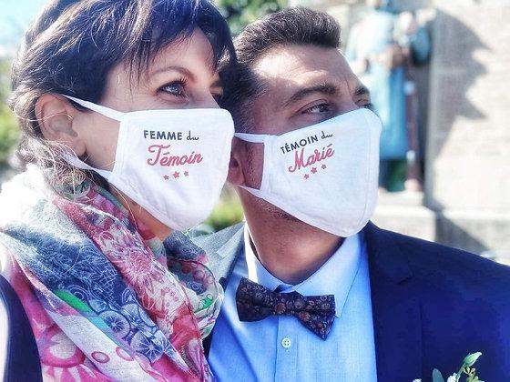 Masques pour les mariages (coton)