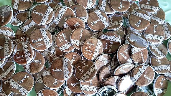 Badges 32mm - Placement des invités