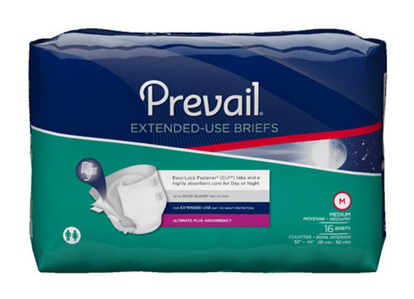 Prevail Extended-Use Ultimate Plus Adult Briefs