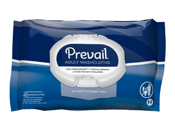 Prevail Hypoallergenic Scented Adult Washcloths