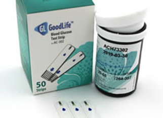 GoodLife AC-302 Blood Glucose Test Strips (50 C