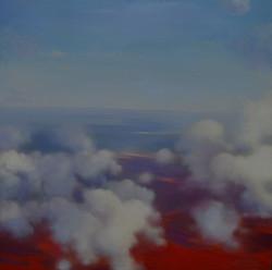 Sopra le nuvole olio su tavola, cm