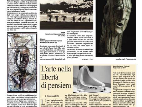 """""""Il Corriere"""" pubblica 3 opere degli artisti: P. Vincenti, J. Spagnolo, Ivana Barsciglié"""