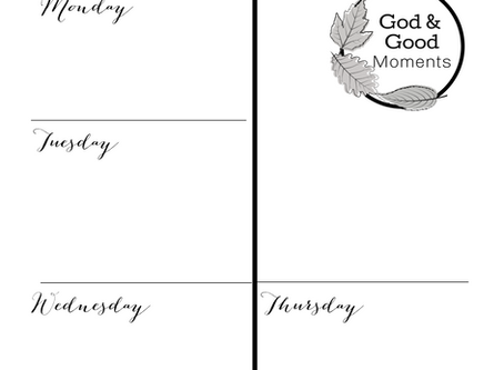 God Moments & Good Moments Printable for Your Light Strand or Bullet Journal