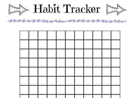Habit Tracker Printable for Your Light Strand Journal