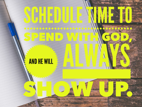 Schedule Time With God