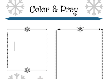 Winter Color and Pray Sheet for the Light Strand Journal