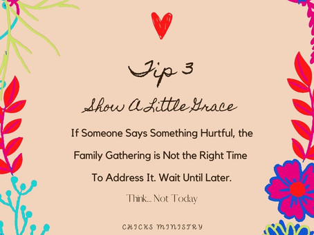 Tip 3 To Avoid Conflict at Family Gatherings