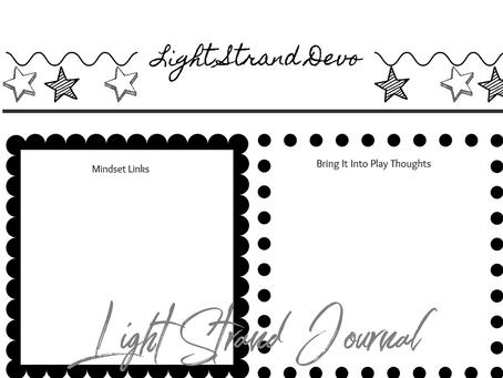 Light Strand Devo Printable Sheet for Your Journal