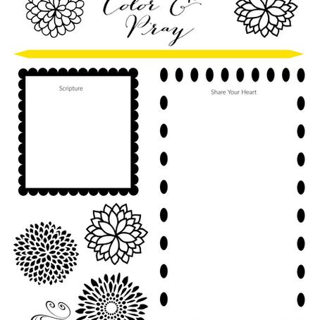 Color & Pray Printable for the Light Strand Journal