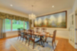 Dining room photo of a stunning home in Great Barrington, Massachusetts