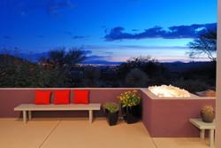 Dusk Porch View Tucson, AZ