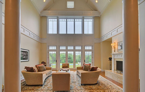Living room photo of a stunning home in Great Barrington, Massachusetts