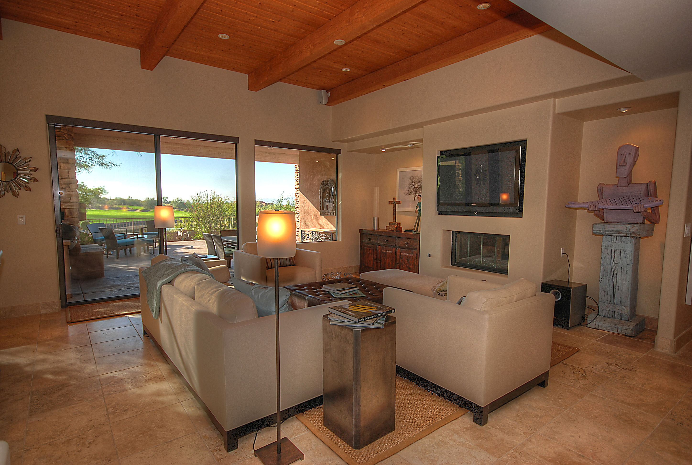 Golf course living room, Oracle, AZ