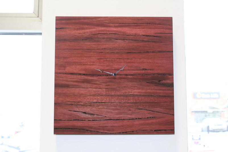 Weir Wood Clock - Red